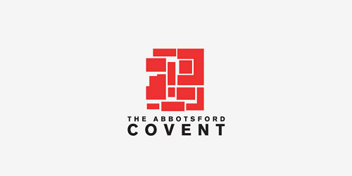 red color logo design inspiration brand Abbotsford Convent Logo