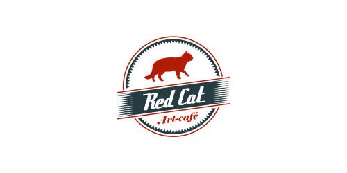 red color logo design inspiration brand Red Cat  l