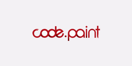 red color logo design inspiration brand Code Paint  l