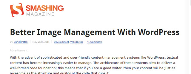 Better Image Management With WordPress