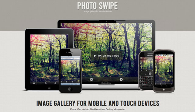 PhotoSwipe - Image Gallery for Mobile Devices