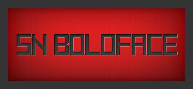 Sn Boldface - Free Font