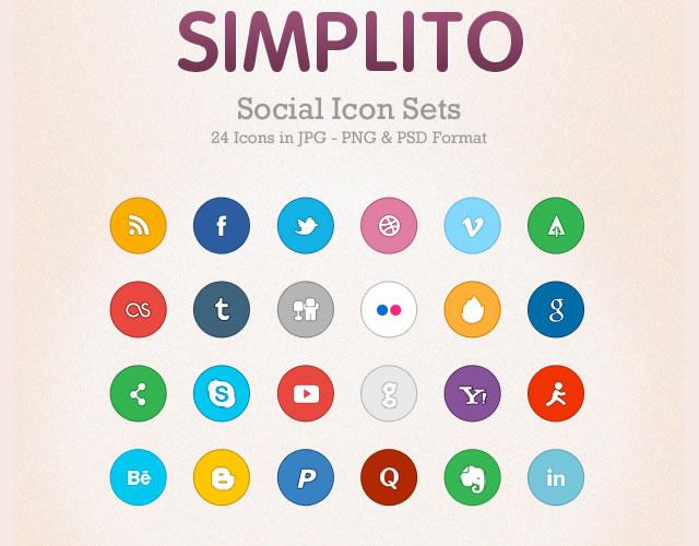 Simplito - A free social icon set