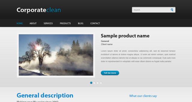 Corporateclean, a free PSD Template