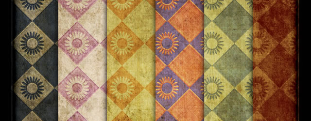 7 Grungy Wallpaper Photoshop Patterns & Texture Pack