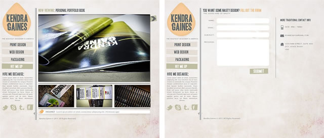 Clean Grunge Homepage & Contact Page