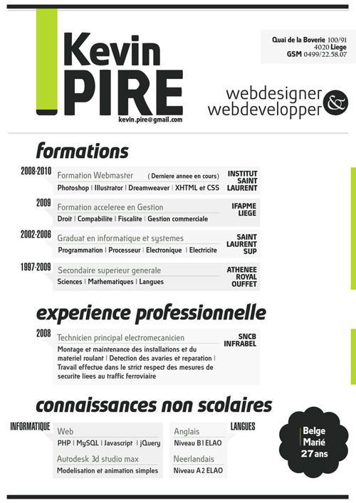 Creative Resume  Graphic Design Student Resume
