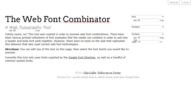 The Web Font Combinator