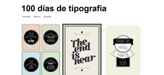 100 Días de Tipografía (100 Days of Typography)