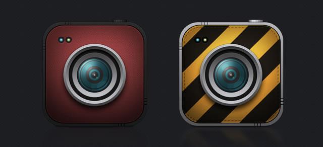 8 Beautiful Cameras Icons (PSD)