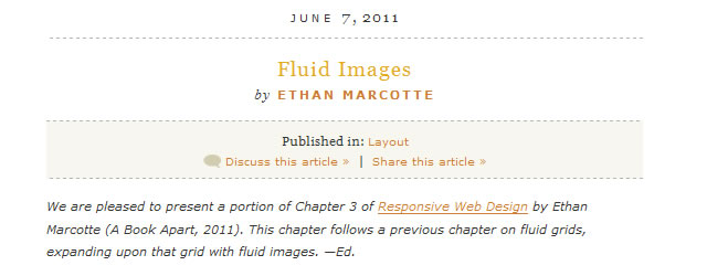A List Apart: Articles - Fluid Images