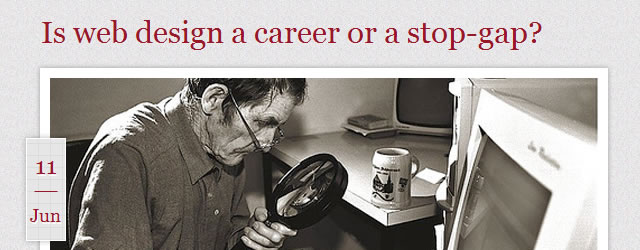 Is Web Design a career or a stop-gap?