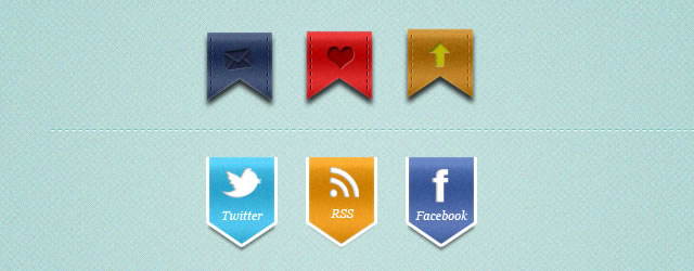 Stylish Web Ribbons (PSD)