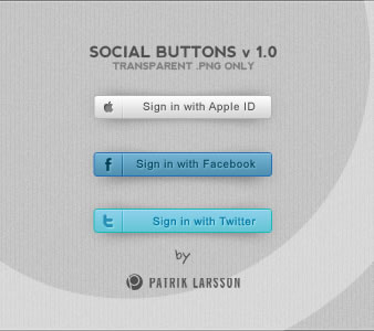 Social Buttons v 1.0