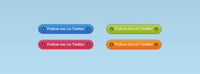 Vibrant Twitter Follow Buttons