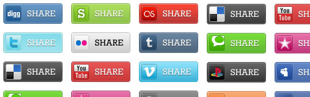 Social Media Bookmark Icons