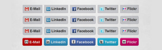 Social Media Buttons Using CSS3