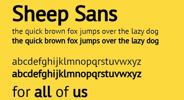 Sheep Sans (Free Font)