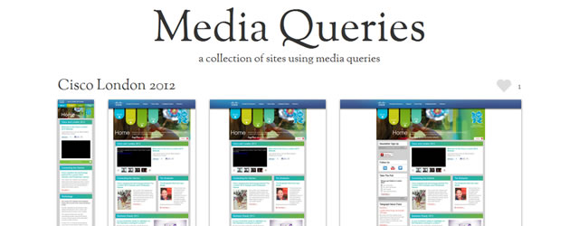Media Queries - A Collection of Sites Using Media Queries