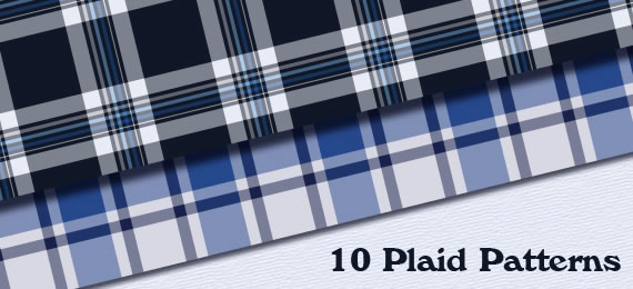 10 Seamless Plaid Patterns for Illustrator and Photoshop