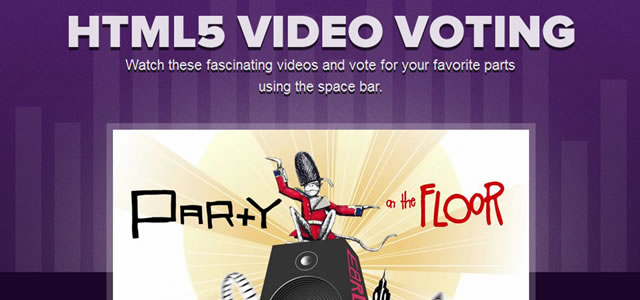 HTML5 Video Voting & Populate Bar Graph in Timeline - Free
