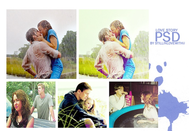 Love Story psd photography coloring