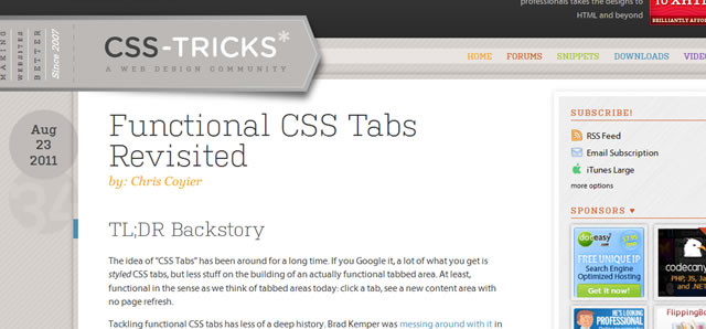 Functional CSS Tabs Revisited