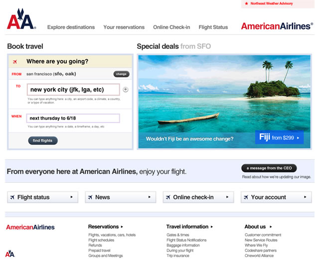 American Airlines Redesign