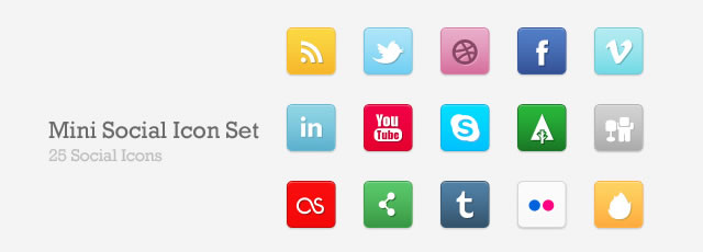 Free Social Media Bookmarking Icon Sets 1