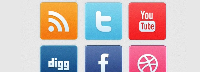 Clean Noise Social Media Icon Set