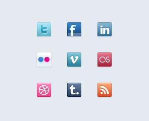 Free Social Media Bookmarking Icon Sets 5