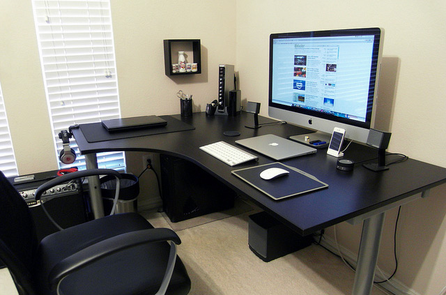 Impressive office desk setup Best Workspace Speckyboy 30 Impressive Home Office Workstation Setups