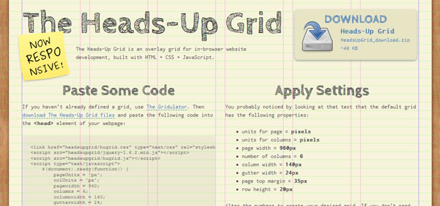 The Heads-Up Grid