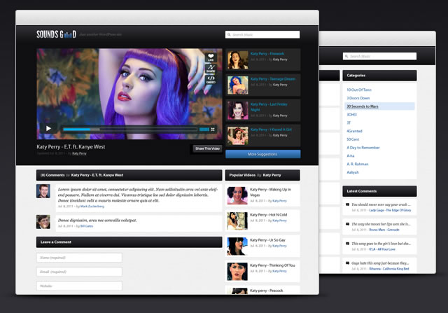 Soundsgood - Free Video Blogging WordPress Theme