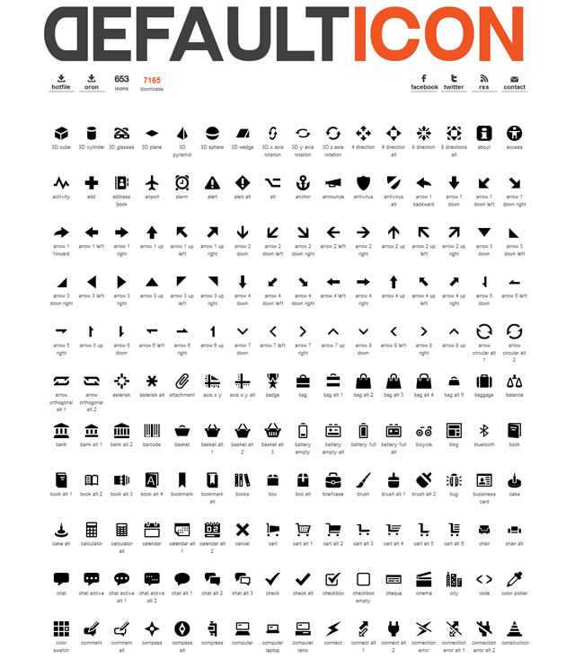 DefaultIcon v.2 (653 Icons)