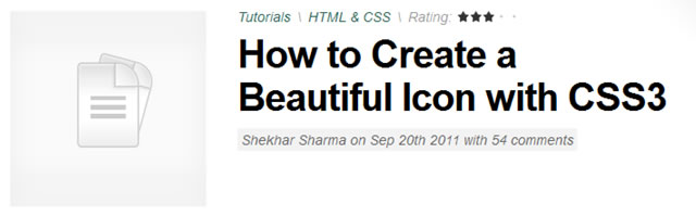 How to Create a Beautiful Icon with CSS3