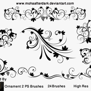 Ornament 2 24 Brushes