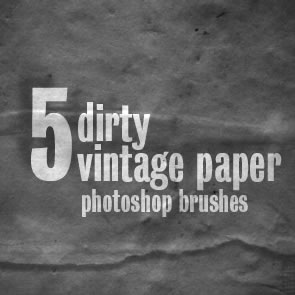 Dirty Vintage Paper 5 Brushes