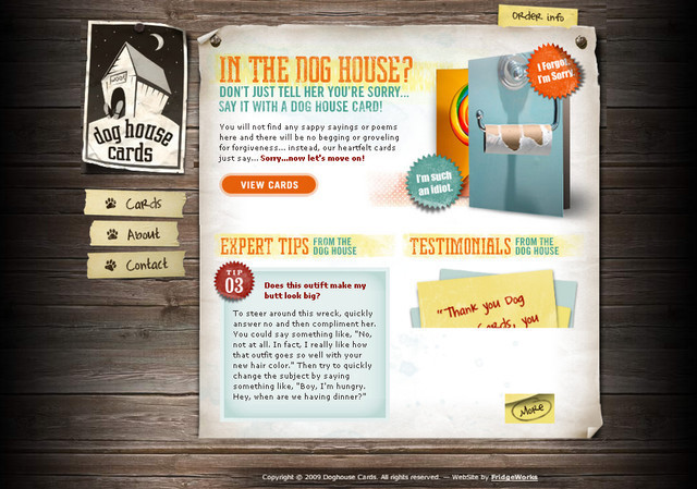 Dog House Cards