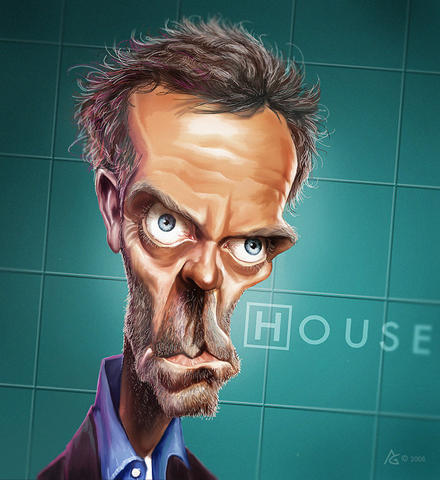 Dr House Celebrity Caricatures Funny
