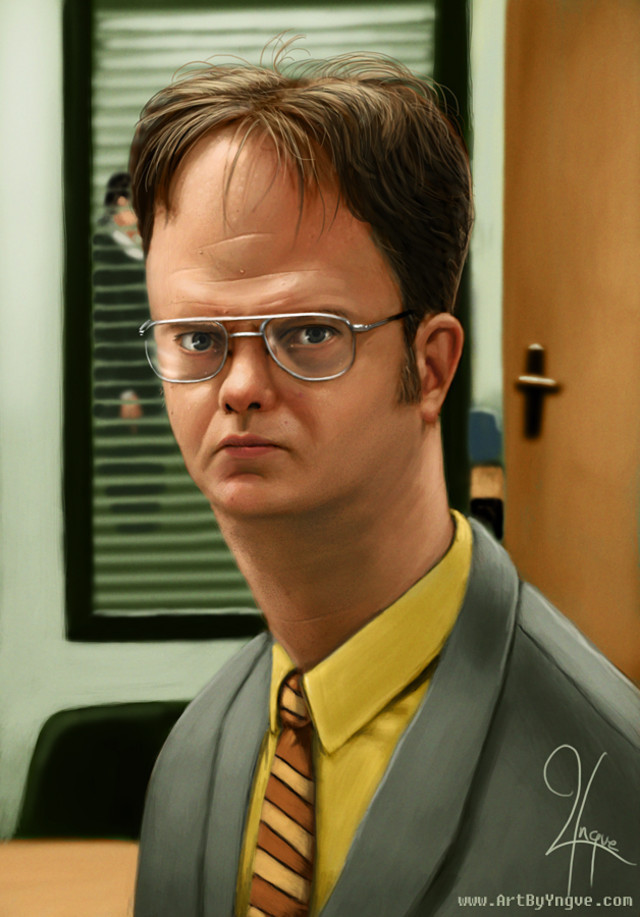 Dwight Schrute Celebrity Caricatures Funny