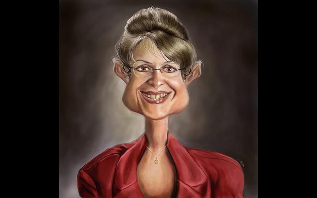 Govener Palin Celebrity Caricatures Funny