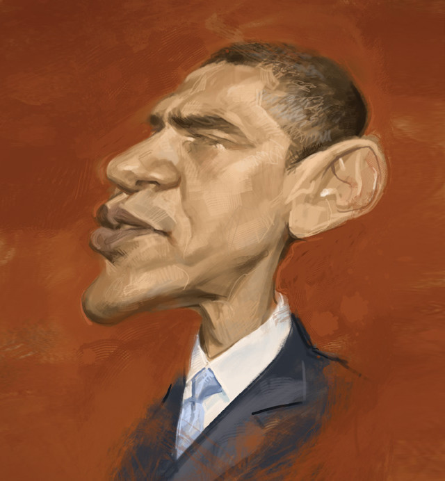Barack Obama Celebrity Caricatures Funny