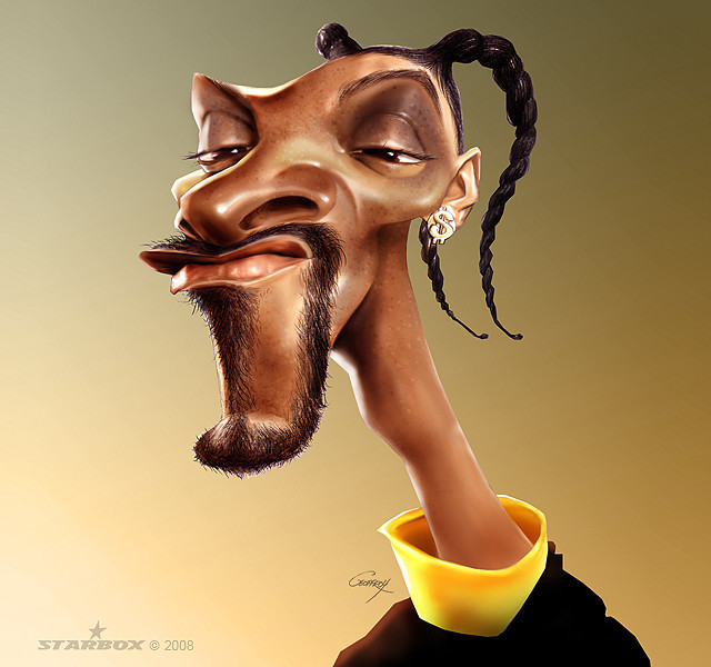 Snoop dogg Celebrity Caricatures Funny