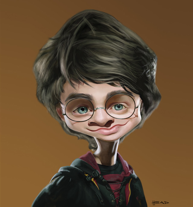 Harry Potter Celebrity Caricatures Funny