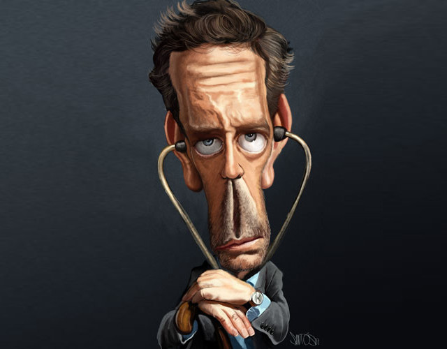 House M.D. Celebrity Caricatures Funny