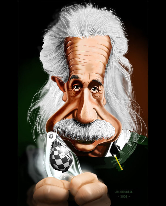 Albert Einstein Celebrity Caricatures Funny