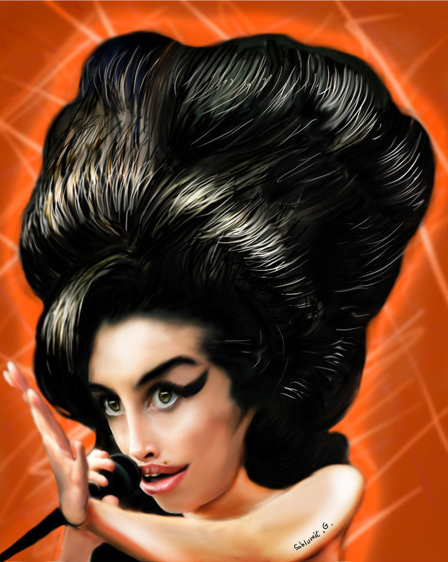 Amy Winehouse Celebrity Caricatures Funny