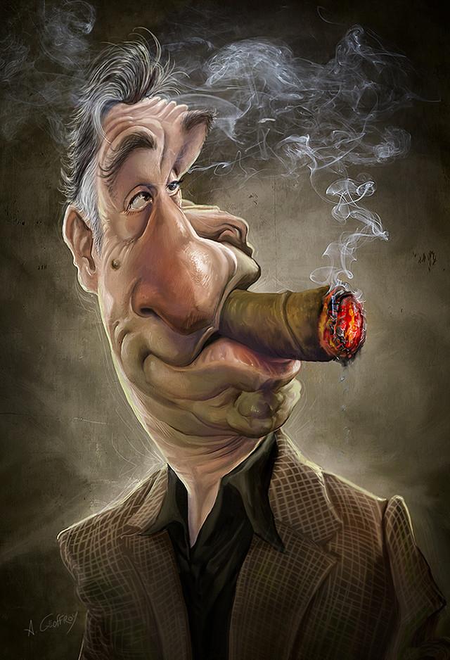 DE NIRO Celebrity Caricatures Funny
