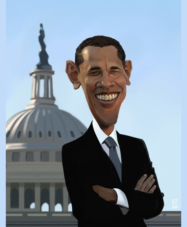 Obama Celebrity Caricatures Funny